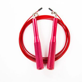 Wemade chinese custom logo adjustable self-lock speed steel wire skipping jump rope