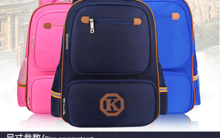 Customized schoolbags women's European and American version primary schoolbags men's printing LOGO elementary school bags wholes
