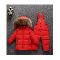 Hot winter new korean style children baby down jacket set thickening boys girls winter two piece set