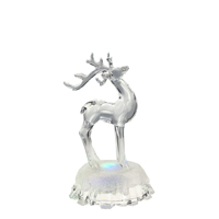 2020 Hot Sale Factory Direct Price Craft Acrylic LED Art Ornaments Christmas Deer
