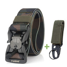 Камуфляжный ремень Cobra, мужской тактический ремень в стиле милитари с магнитной пряжкой, Быстросохнущий ремень для джинсов и брюк, нейлонов...(China)