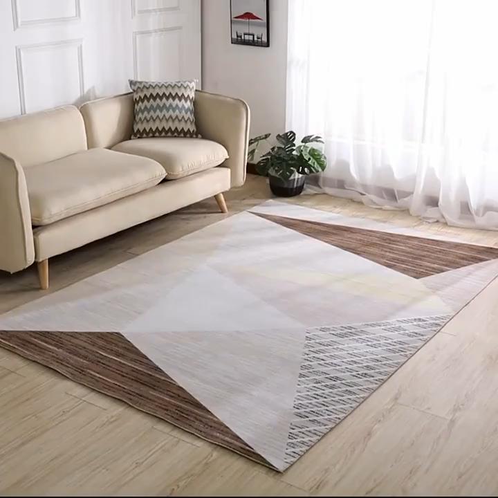 다채로운 중국 새로운 디자인 빨 스퀘어 카펫 현대 디자인 3D 인쇄 카펫