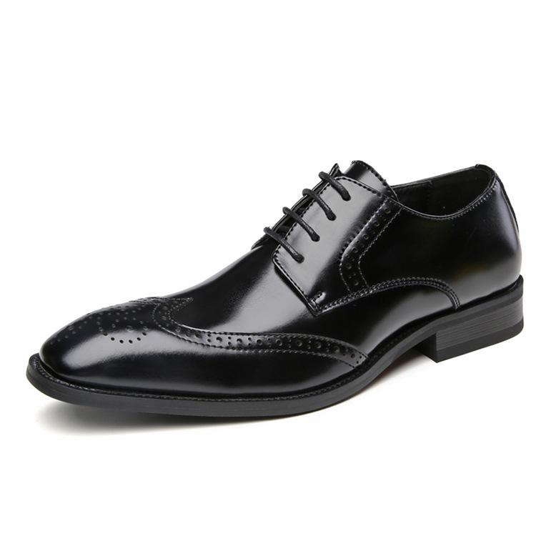EVERTOP vendita Calda pattini di cuoio genuini lace up di disegno di modo di cuoio della mucca degli uomini pattini di vestito di affari scarpe