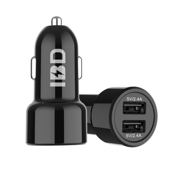 IBD phone charger dual port usb 3.1a car charger adapter 3.0 two in one car charger 48a for Iphone