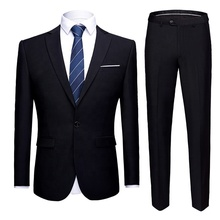 Wholese kantoor <span class=keywords><strong>jas</strong></span> <span class=keywords><strong>broek</strong></span> tweedelige mannen suits set