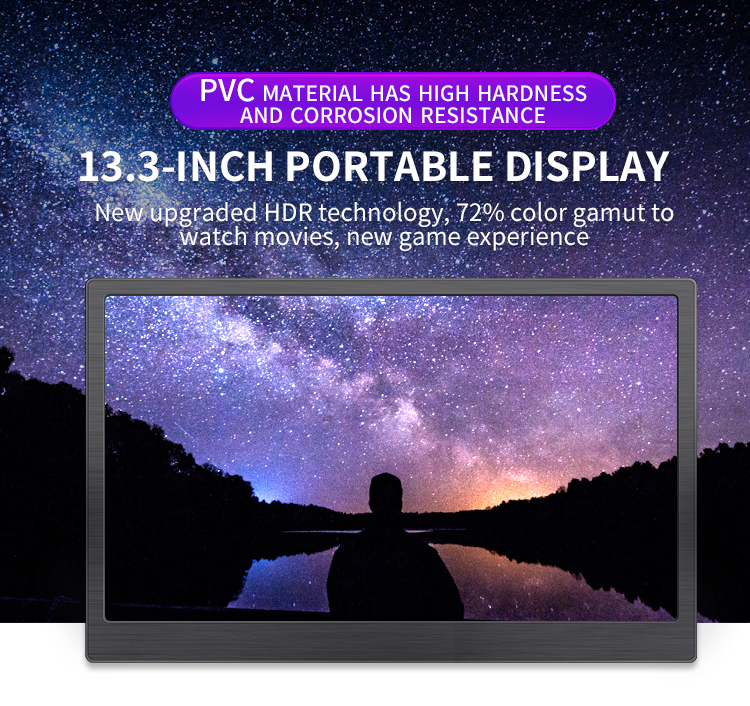 13.3 Inch 2k 2560x1440 IPS HD Laptop Lcd-scherm Gaming Monitor Draagbare Monitor HDMI Display Computer LED monitor voor PS4 Xbox