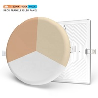 CE PC aluminum 18 watt embedded ceiling lamp OEM ODM round recessed downlight lamp 18w led panel light