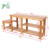 Entryway  2 Tier 100% Natural Wooden Bamboo Boot Organizing Storage Shelf, Shoe Rack Bench