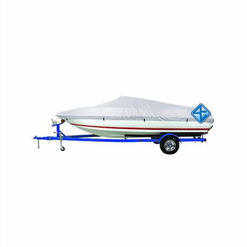 Wholesale Durable 14-16 ft Waterproof Silver 150D Polyester Boat Cover