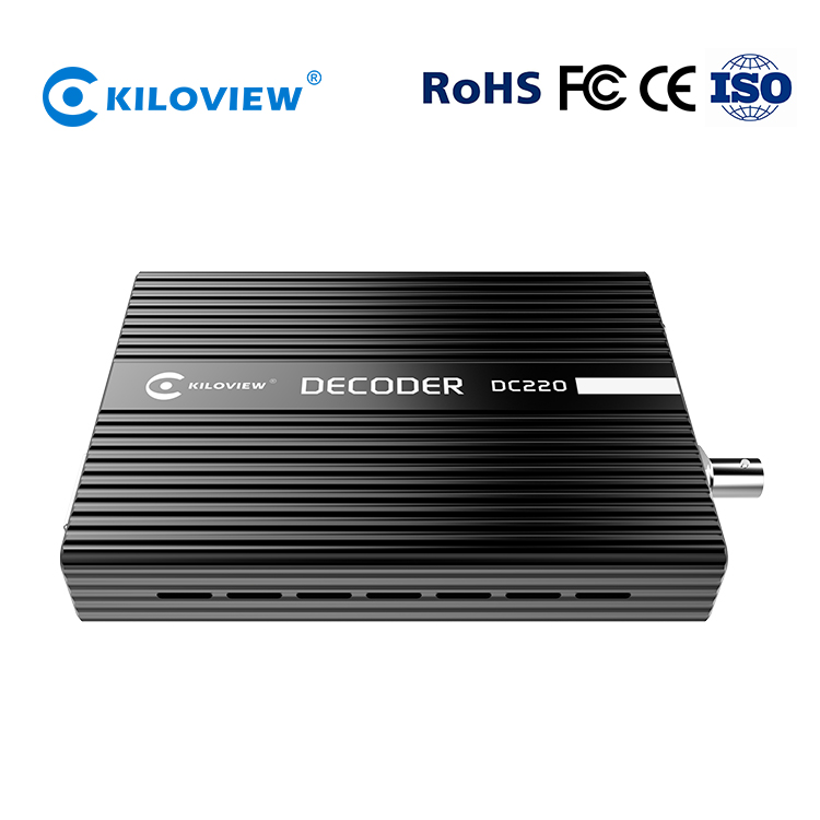HD SDI IPTV In Streaming Decoder SRT RTSP RTMP per HD SDI HDMI VGA IP Video Decoder