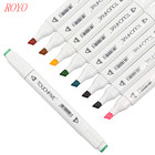 Hot Selling168 colors alcohol permanent acrylic paint marker pen highlighters with case