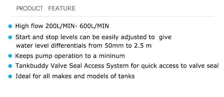 TOPVALVE tankbuddy otomatik vana şamandıra valfi pvc