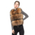 Real Fur Vest Women Genuine Raccoon Fur Gilet Waistcoat Winter New Fashion 3 Rows Vest S1150