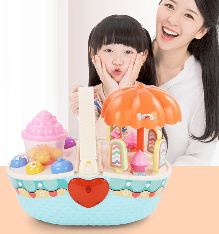 Pretend plastic children colorful sweet treats ice cream food play food dessert