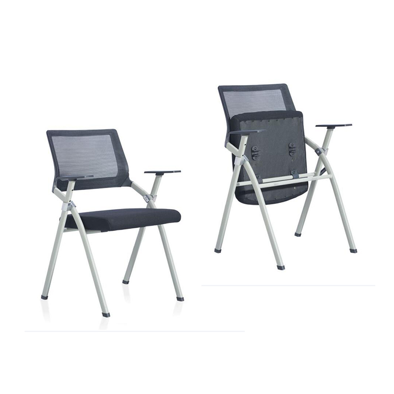 China factory foldable study chairs set plastic school student armrest training chair with writing pad