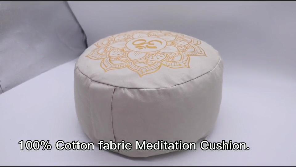 थोक प्रीमियम ध्यान तकिया उच्च गुणवत्ता एक प्रकार का अनाज भरा योग ध्यान तकिया