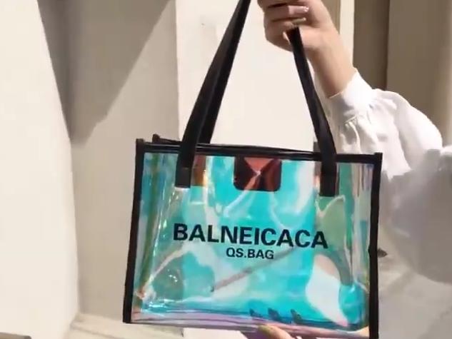 2020ファッショントートバッグ新しいデザイントートバッグpvcカスタムロゴホログラフィックバッグ