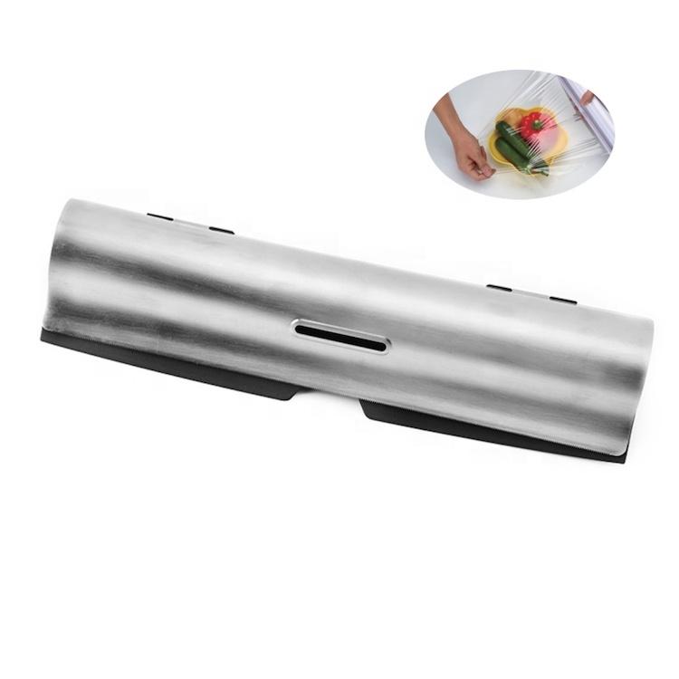 الثقيلة الفولاذ المقاوم للصدأ غشاء تغليف القاطع البلاستيك التفاف موزع SW-KG720