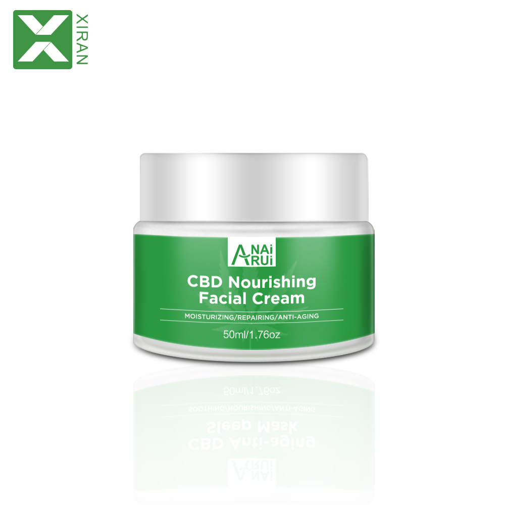 2019 Private Label Beauty Natural Hemp Seed Oil CBD Nourishing Repairing Facial Face Cream