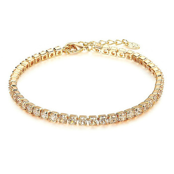 14K Gold Plated Cubic Zirconia Classic Tennis Bracelet