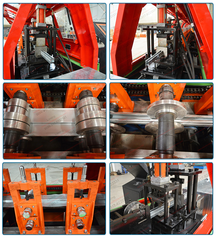 Easy Operation Color Steel Omega Profile u Keel Roll Forming Machine