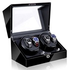 Watch Winding System Automatic rotation table box watch storage box 4+0 wooden watch winder