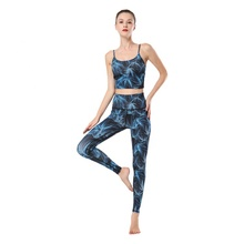 Fabrik Outlet Frauen Druck Yoga <span class=keywords><strong>Tragen</strong></span> Tank Top Und Leggings Yoga Set
