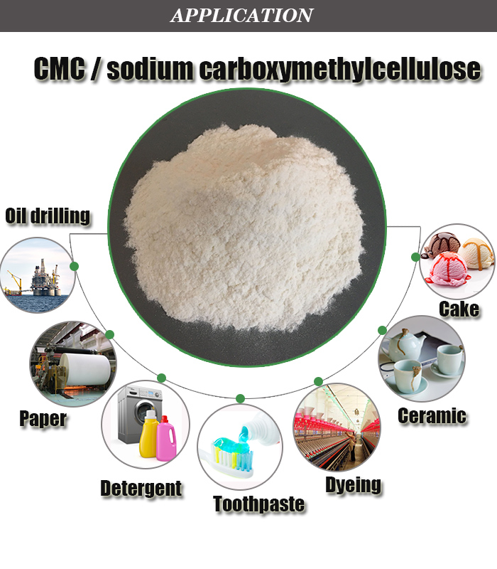 Food grade high viscosity carboxy methyl cellulose CMC HV