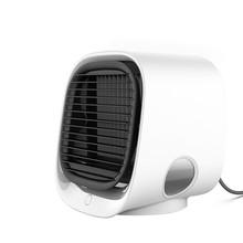 Мини портативный кондиционер Многофункциональный увлажнитель воздуха очиститель USB Настольный воздушный кулер вентилятор с водой для дом...(Китай)