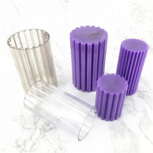 Round coarse tooth plastic candle molds diy candle making Acrylic mould