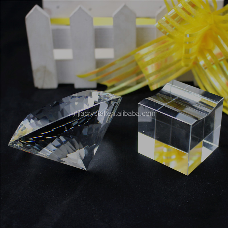 Optical Clear K9 Crystal Glass Diamond Paperweight/Wholesale transparent Crystal Diamonds for Wedding Return Gifts