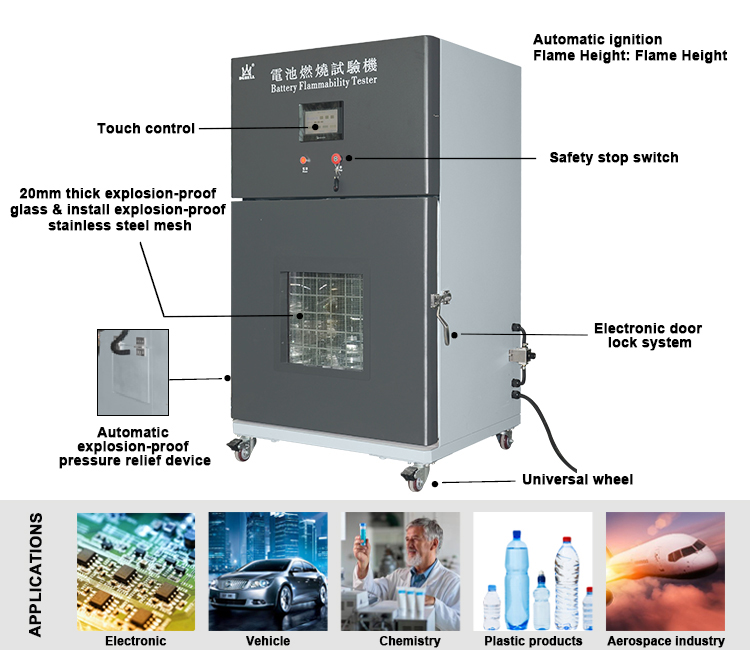 Safety Programmable Lithium Battery/ Cell Phone / Laptop/ Burning Test Chambers