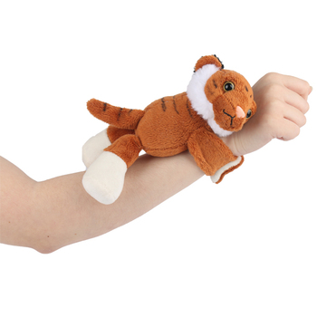 Custom stuffed animal tiger wrist band plush slap bracelet