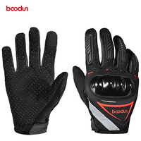 2019 Boodun new style custom made leather racing motorcycle gloves