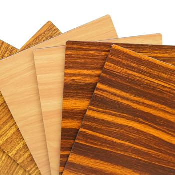 Pvdf Wooden Texture Acp Aluminium Plastic Composite Board