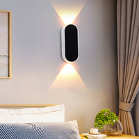 high quality 2019 indoor decorative white acrylic modern nordic hotel bedside fancy wall light up and down led wall lamp