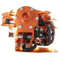 Forest Harvester Head with Branch Cleaning and Peeling Off and Control System for Excavator