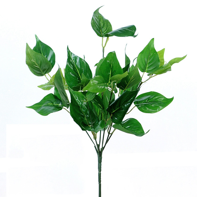 Decorative <strong>artificial</strong> plants branches <strong>green</strong> <strong>leaves</strong>