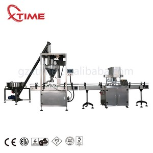 Powder Filling Machine Production Line, Dry Milk Powder Packing/automatic Tin Can Filling Sealing Machine