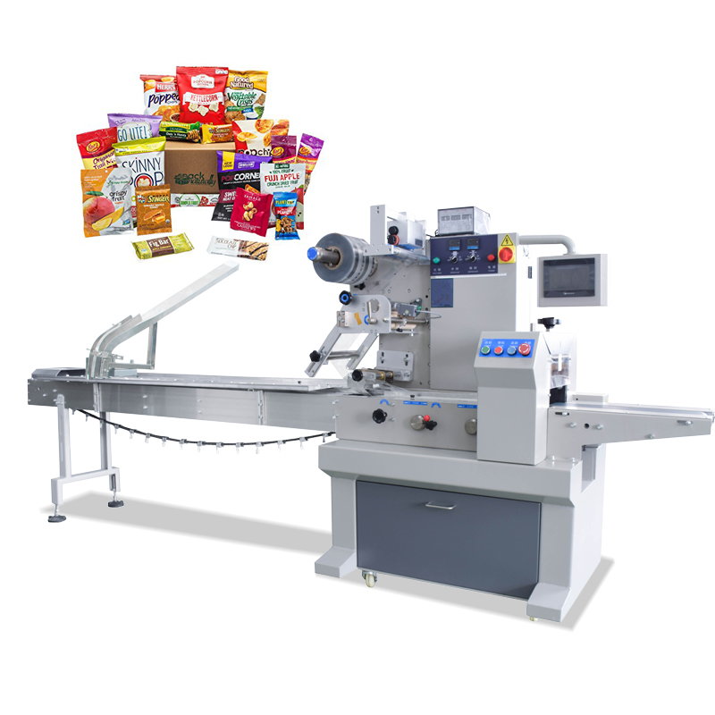 Flow Automatic Bag Cookies Biscuits Bread Sealing Machine