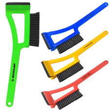 Professional 2-in-1 OEM  logo printed durable plastic warm protective windshield snow shovel window ice scraper with glove