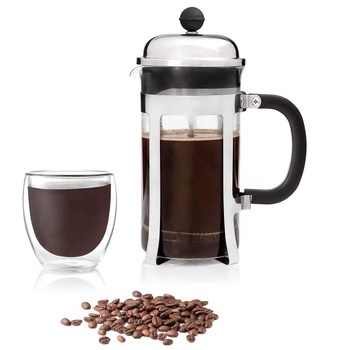 Wholesale Amazon 34oz Stainless Steel Glass French Press Coffee Maker Coffee Plunger