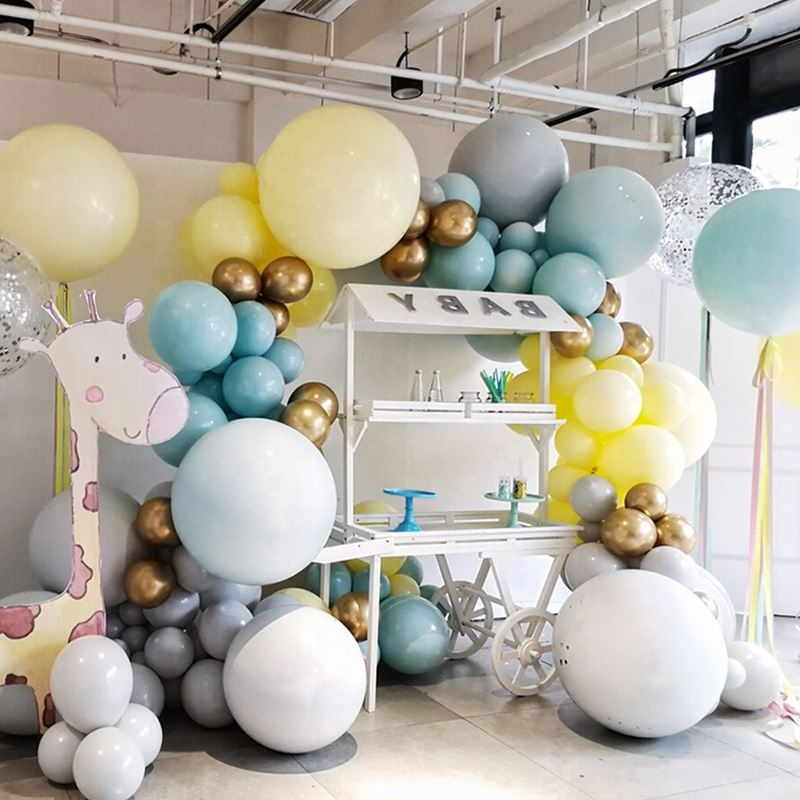 NEW 24 inches Macarons latex candy balloons round shape ballon for wedding party Decoration