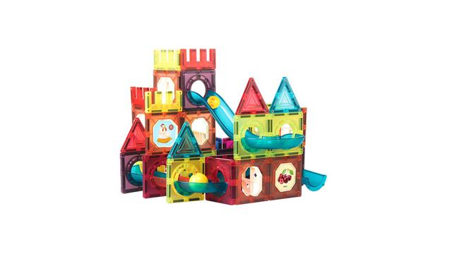 Magnetic Hexagon Puzzle  Building Block Toys Marble Run Tiles  for Kids