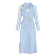 Платье TWOTWINSTYLE, кружевное, с длинным рукавом и карманами(Китай)