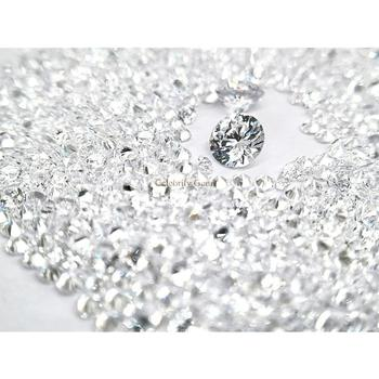 AAAAA quality high temperature resistant 3mm round shape white cubic zirconia