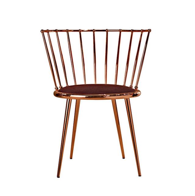Metal Brass Gold Copper Upholstery Velvet Cantori Aurora luxury modern classic leisure recliner chair high quality