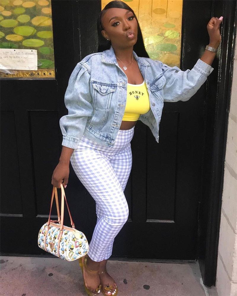 Womens Jackets Long Sleeve Denim Jackets Coats Jean Jackets for Ladies Clothing Women Commuter Women Clothing