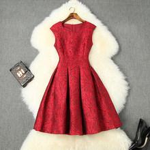 Жаккардовое платье, новинка 2020, высокое качество, весеннее платье без рукавов, знаменитостей, женская одежда, модные мини сексуальные вечер...(Китай)