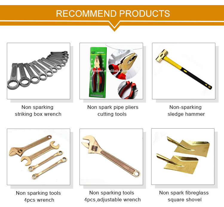 Multifunctional sparkless safety tools bronze 200mm non sparking double c wrench